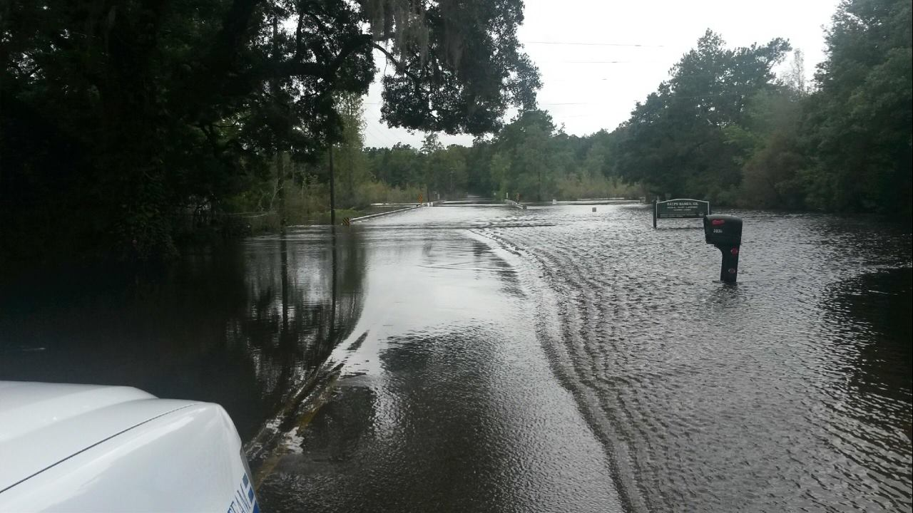 Cainhoy Road at Quimby Creek.